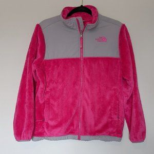 The North Face Hot Pink Fuzzy Full Zip Jacket